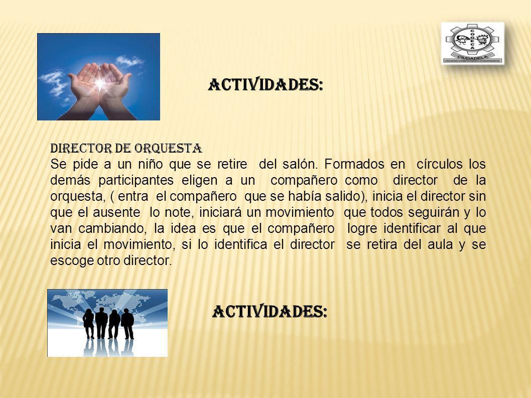ACTIVIDADES: ACTIVIDADES: DIRECTOR DE ORQUESTA