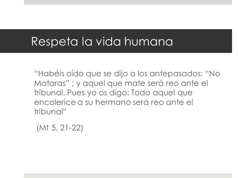 Respeta la vida humana