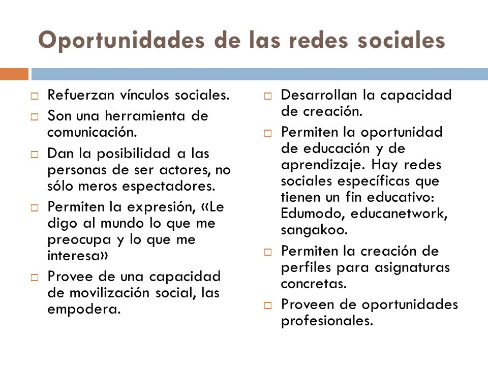 Oportunidades de las redes sociales