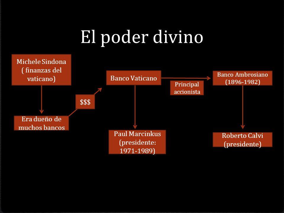 El poder divino Michele Sindona ( finanzas del vaticano)
