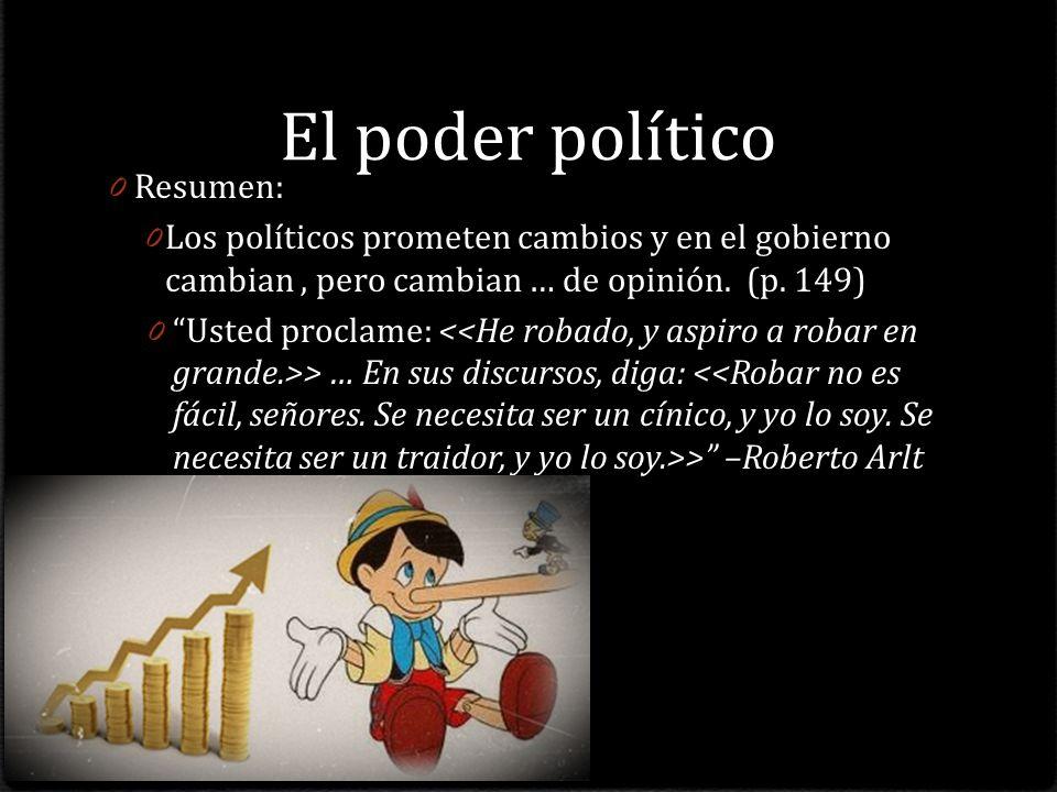 El poder político Resumen:
