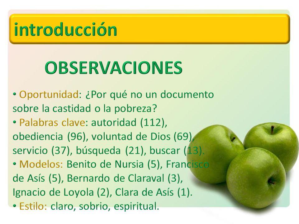 introducción OBSERVACIONES