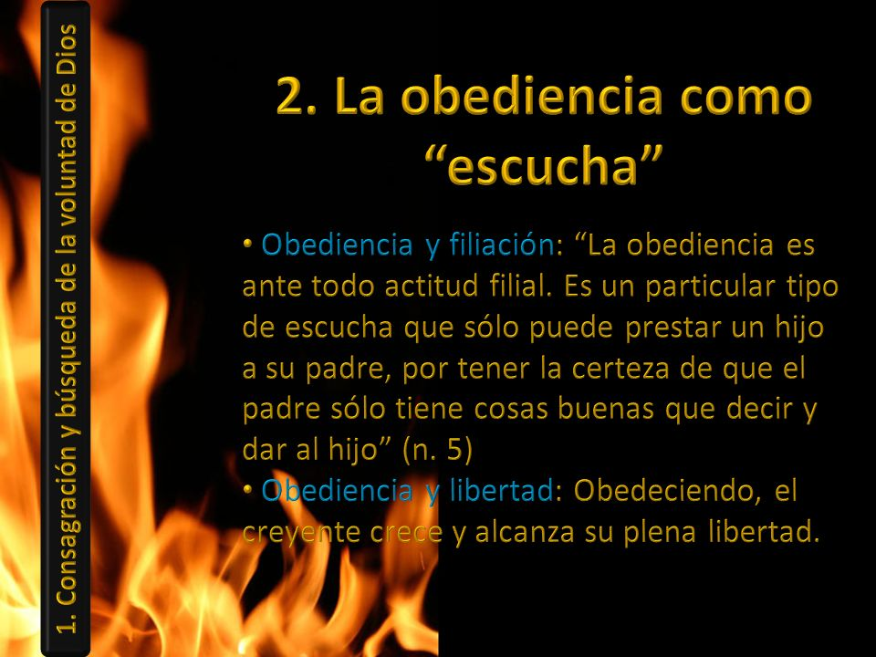 2. La obediencia como escucha