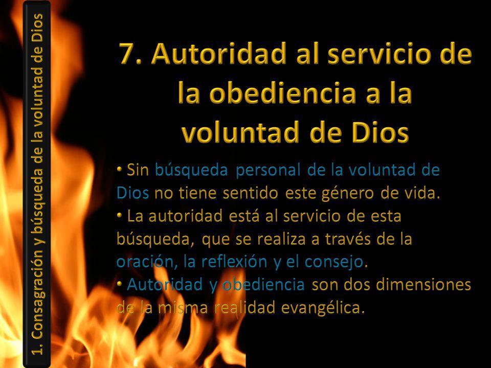 7. Autoridad al servicio de la obediencia a la voluntad de Dios