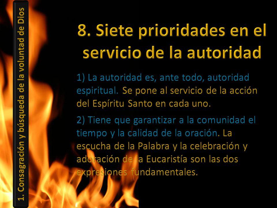 8. Siete prioridades en el servicio de la autoridad