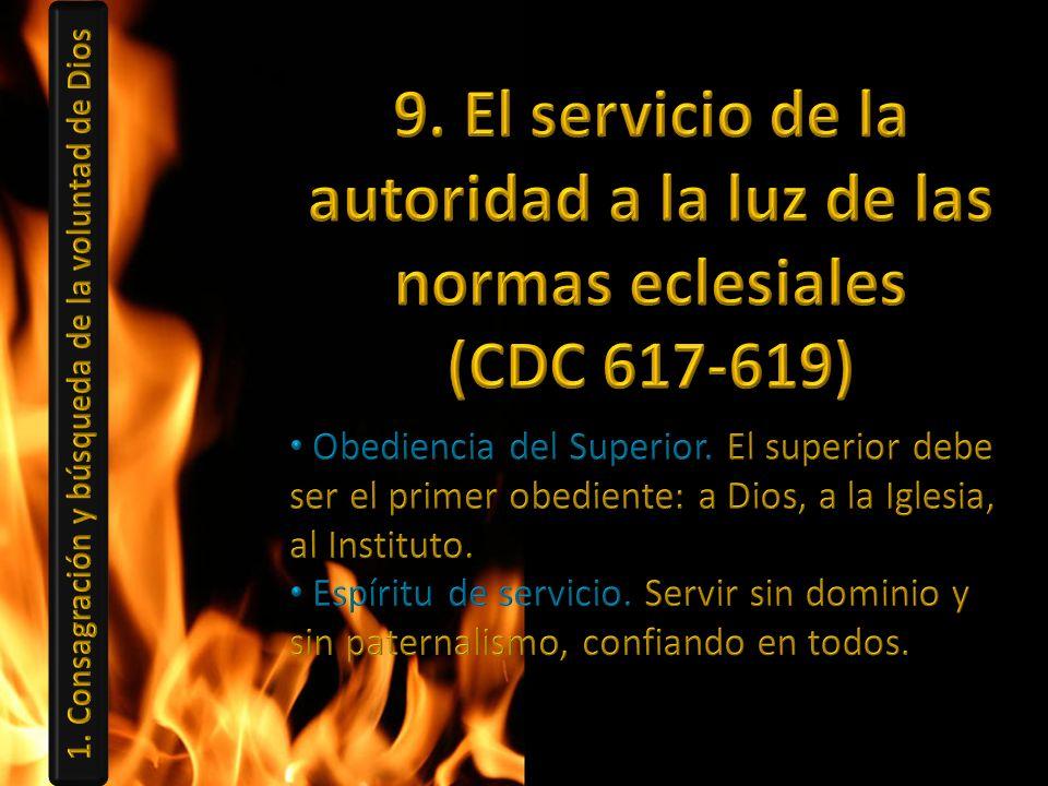 9. El servicio de la autoridad a la luz de las normas eclesiales