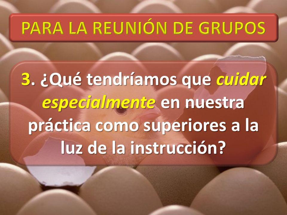 PARA LA REUNIÓN DE GRUPOS