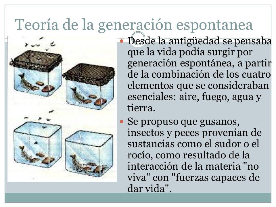 Teoría de la generación espontanea