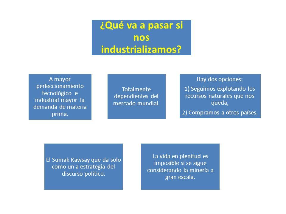 ¿Qué va a pasar si nos industrializamos