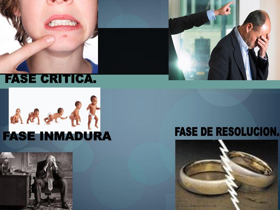 FASE CRITICA. FASE DE RESOLUCION. FASE INMADURA