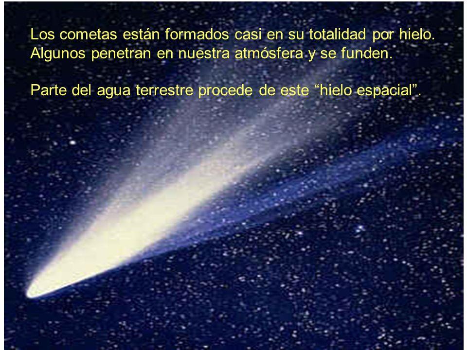 Los cometas están formados casi en su totalidad por hielo.