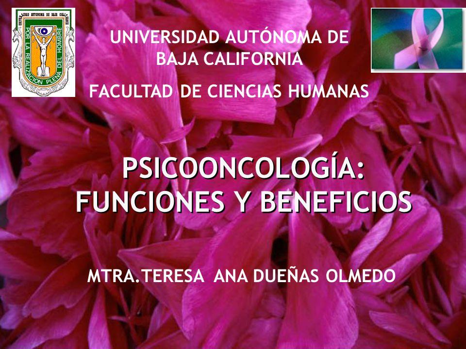 PSICOONCOLOGÍA: FUNCIONES Y BENEFICIOS