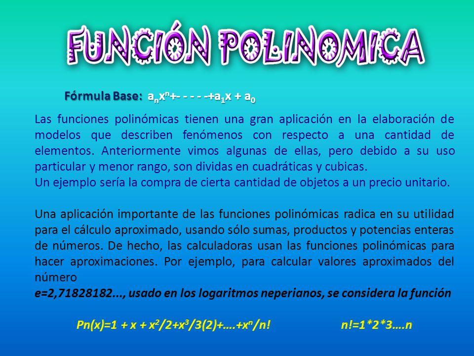 Pn(x)=1 + x + x2/2+x3/3(2)+….+xn/n! n!=1*2*3….n