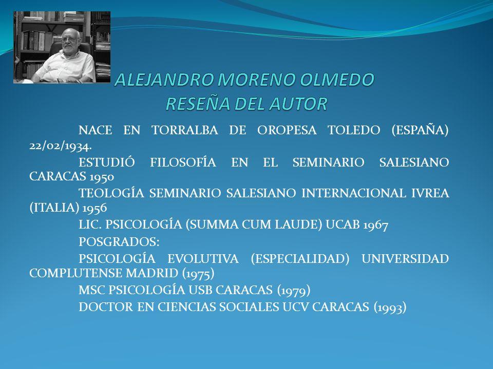 ALEJANDRO MORENO OLMEDO RESEÑA DEL AUTOR