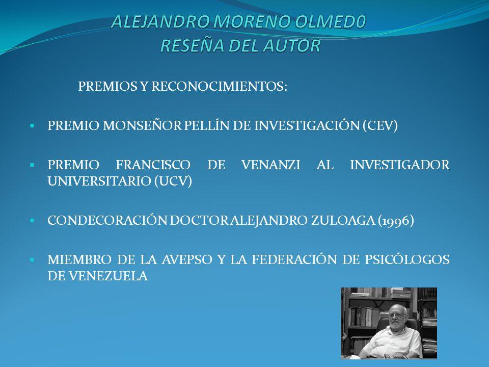 ALEJANDRO MORENO OLMED0 RESEÑA DEL AUTOR