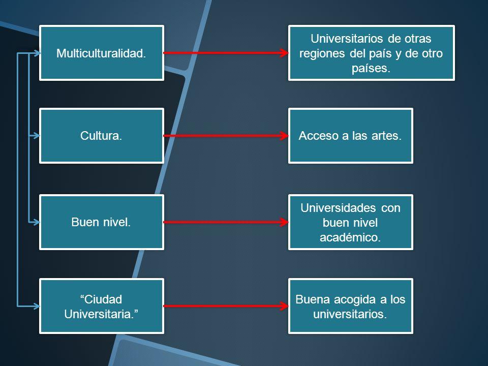 Universitarios de otras regiones del país y de otro países.