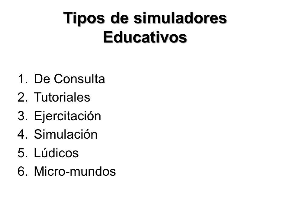Tipos de simuladores Educativos
