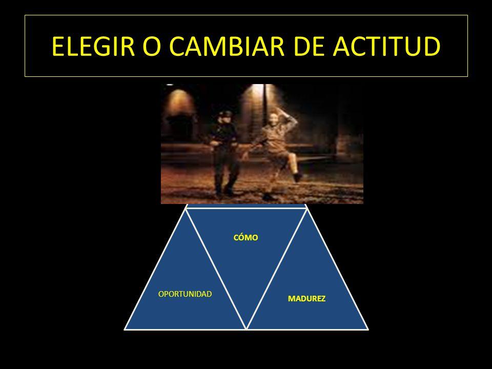 ELEGIR O CAMBIAR DE ACTITUD