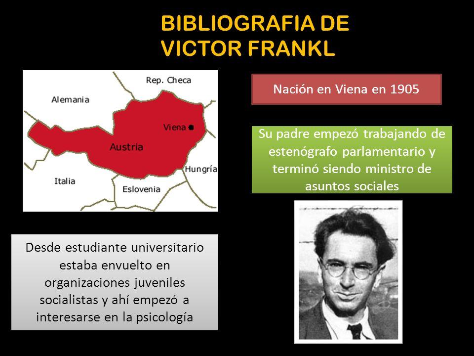BIBLIOGRAFIA DE VICTOR FRANKL
