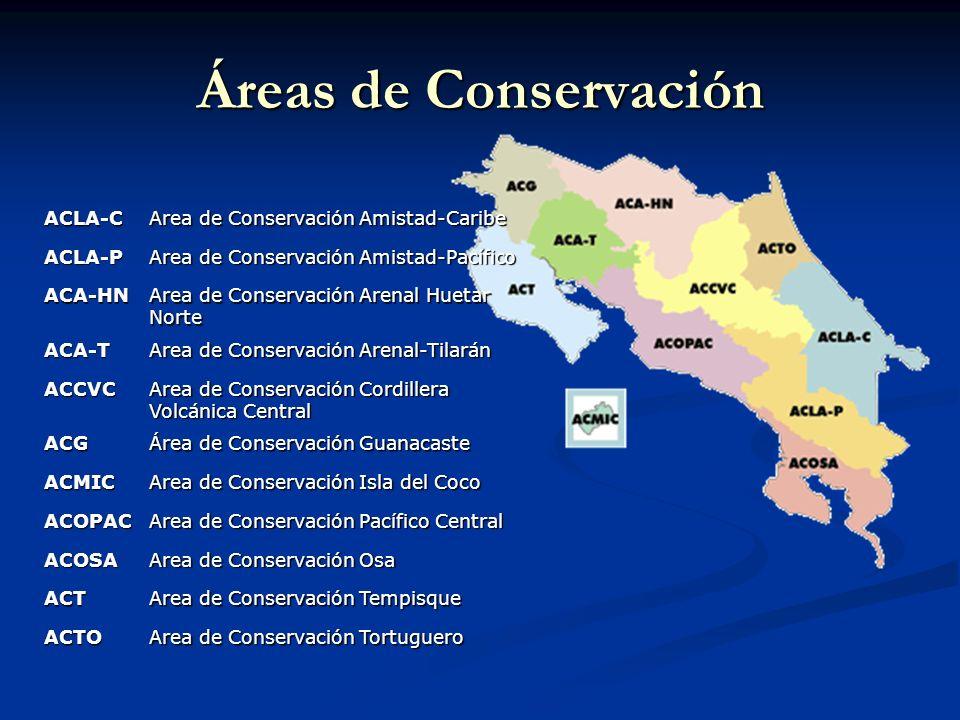 Áreas de Conservación ACLA-C Area de Conservación Amistad-Caribe