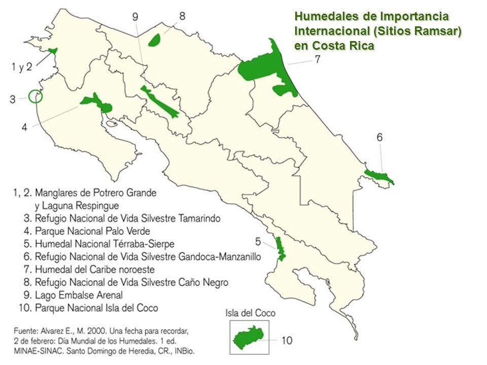 Humedales de Importancia Internacional (Sitios Ramsar) en Costa Rica
