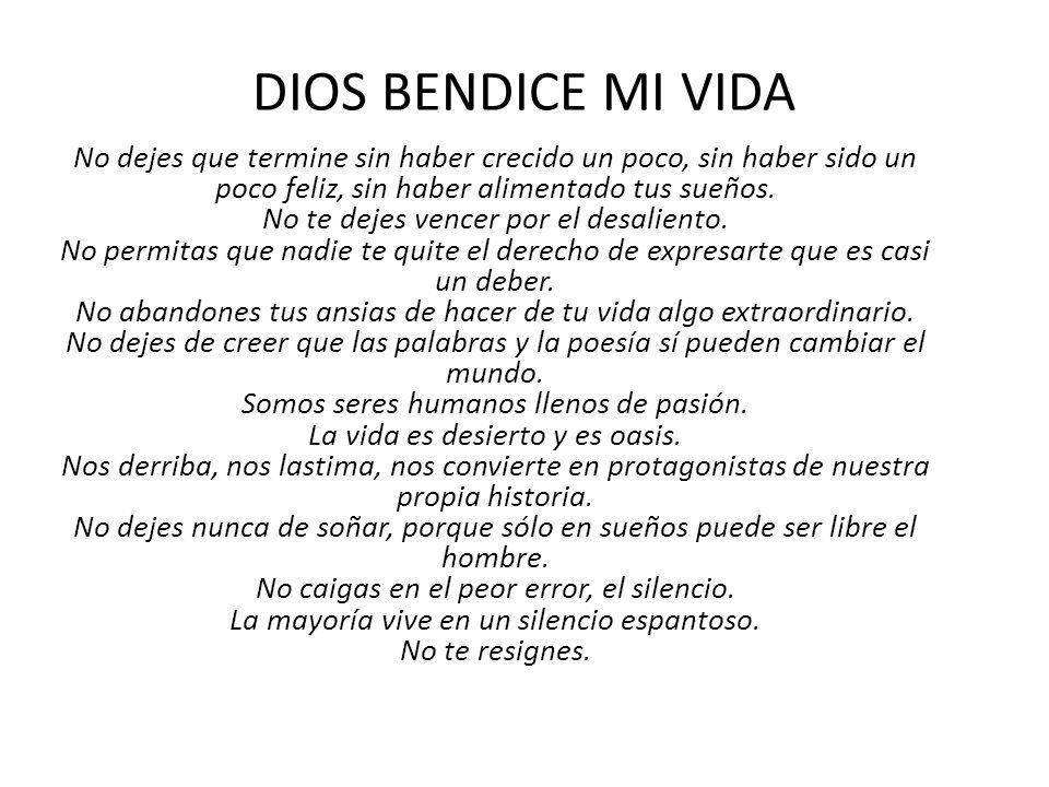 DIOS BENDICE MI VIDA