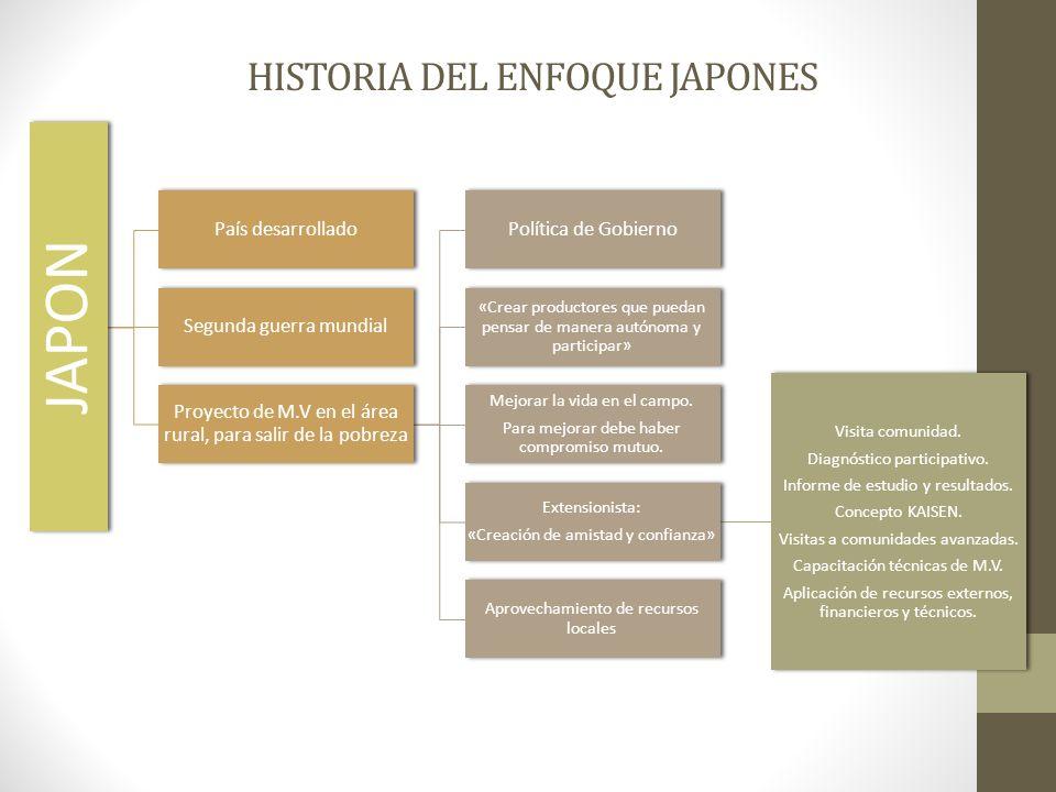 HISTORIA DEL ENFOQUE JAPONES