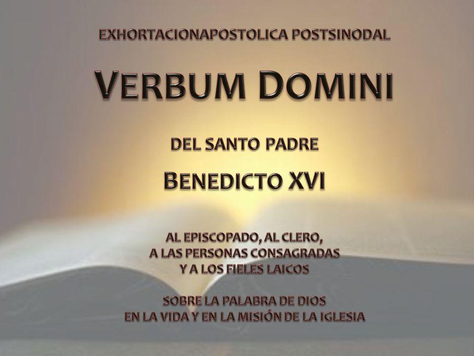 VERBUM DOMINI BENEDICTO XVI DEL SANTO PADRE