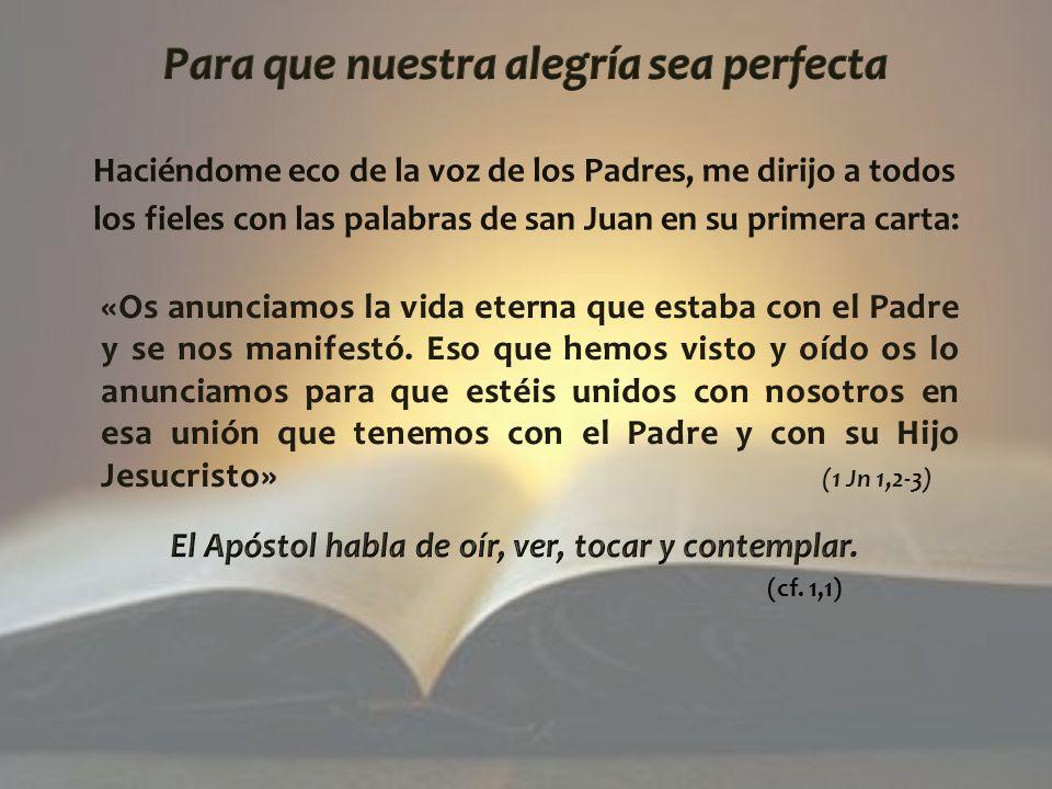Para que nuestra alegría sea perfecta