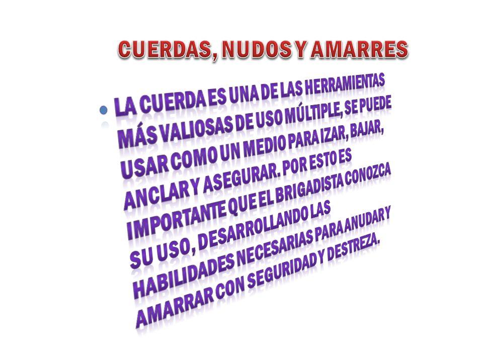 CUERDAS, NUDOS Y AMARRES