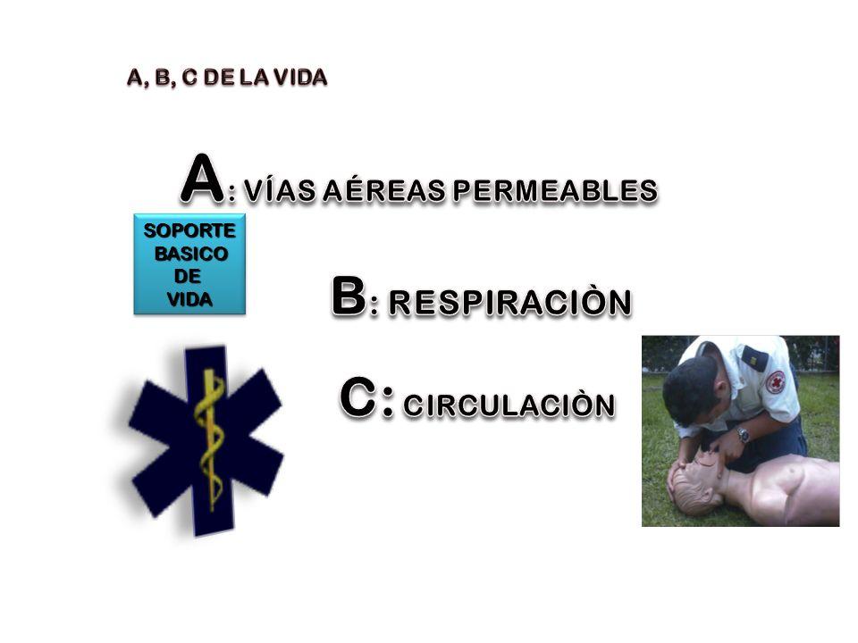 A: VÍAS AÉREAS PERMEABLES