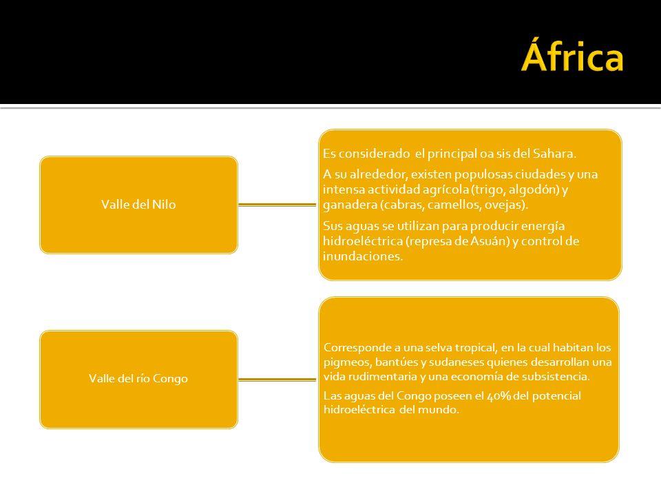 África Es considerado el principal oa sis del Sahara.