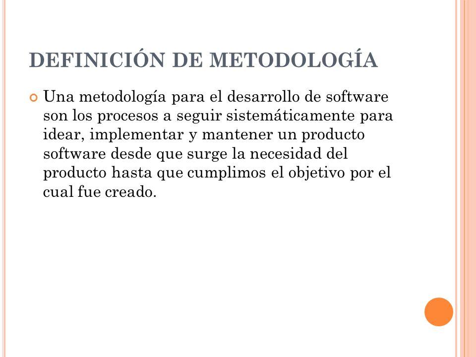 DEFINICIÓN DE METODOLOGÍA