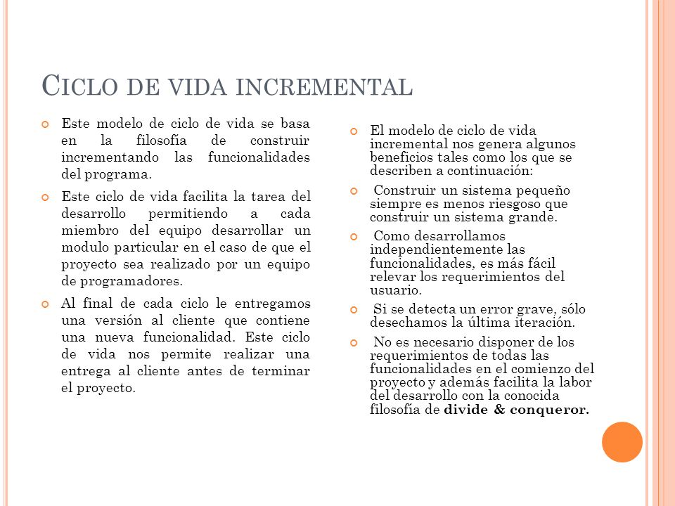 Ciclo de vida incremental