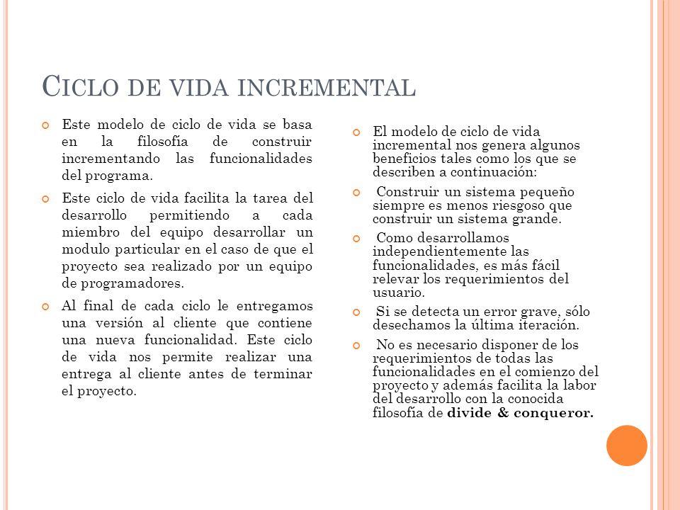Ciclo de vida incremental