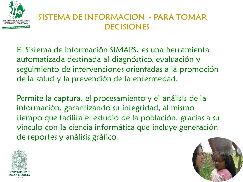 SISTEMA DE INFORMACION - PARA TOMAR DECISIONES