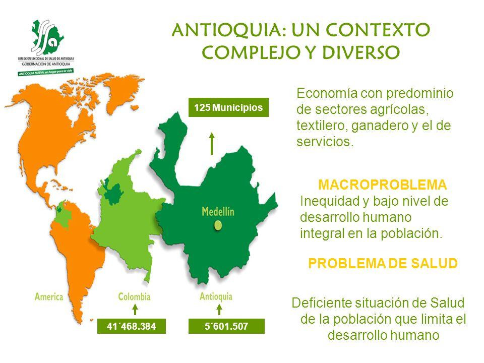 ANTIOQUIA: UN CONTEXTO COMPLEJO Y DIVERSO