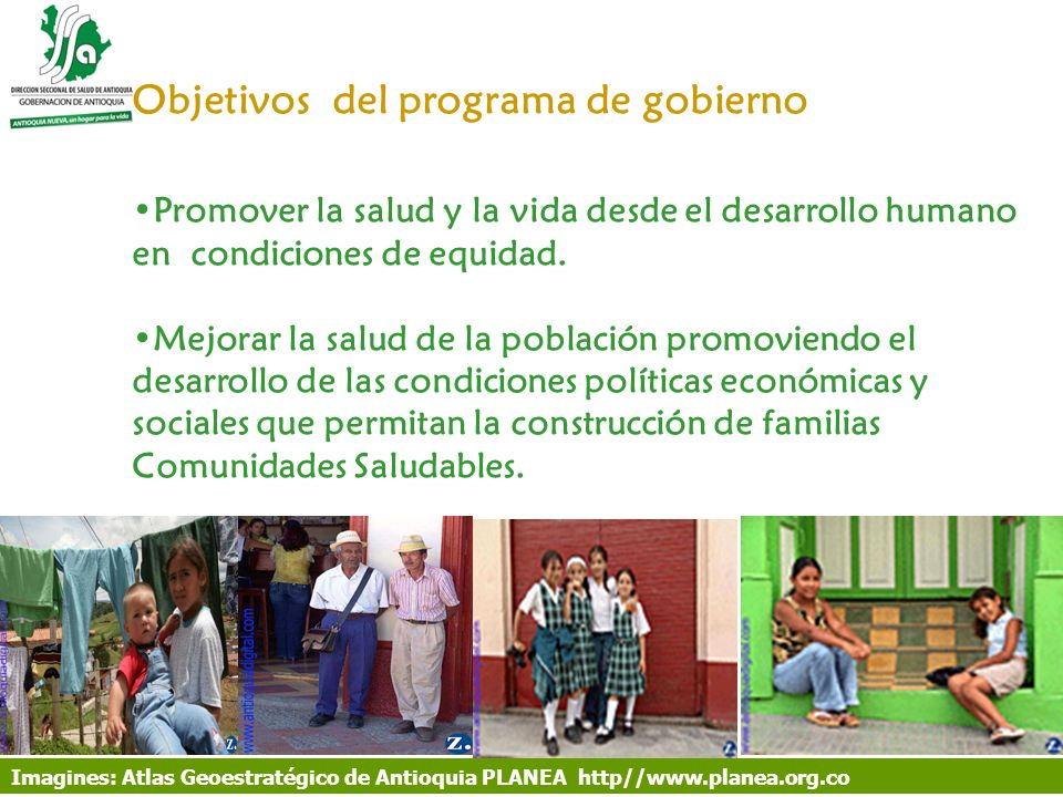 Objetivos del programa de gobierno