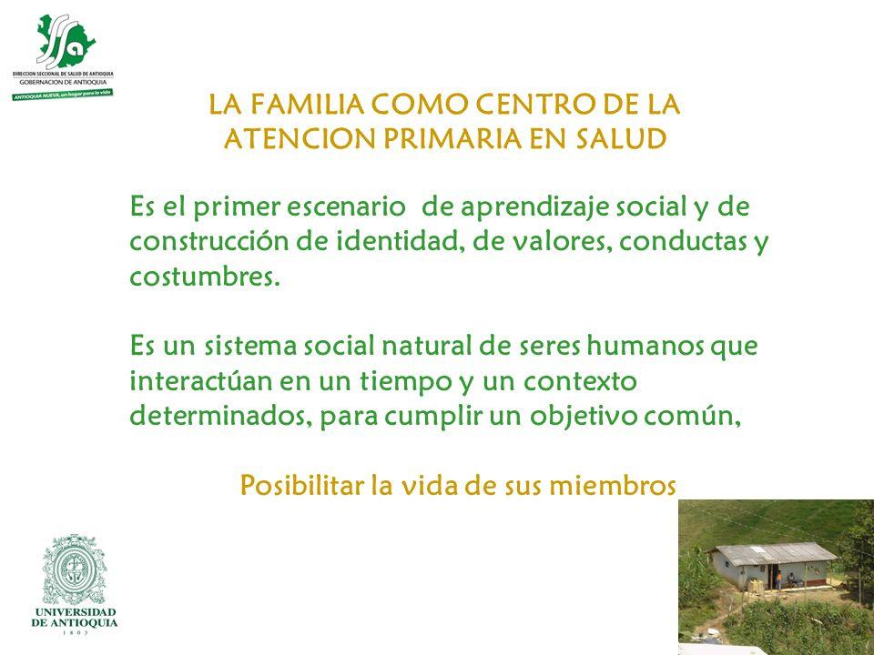LA FAMILIA COMO CENTRO DE LA ATENCION PRIMARIA EN SALUD