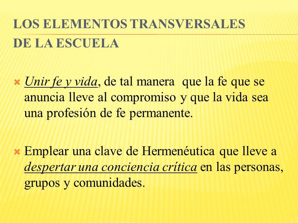 LOS ELEMENTOS TRANSVERSALES