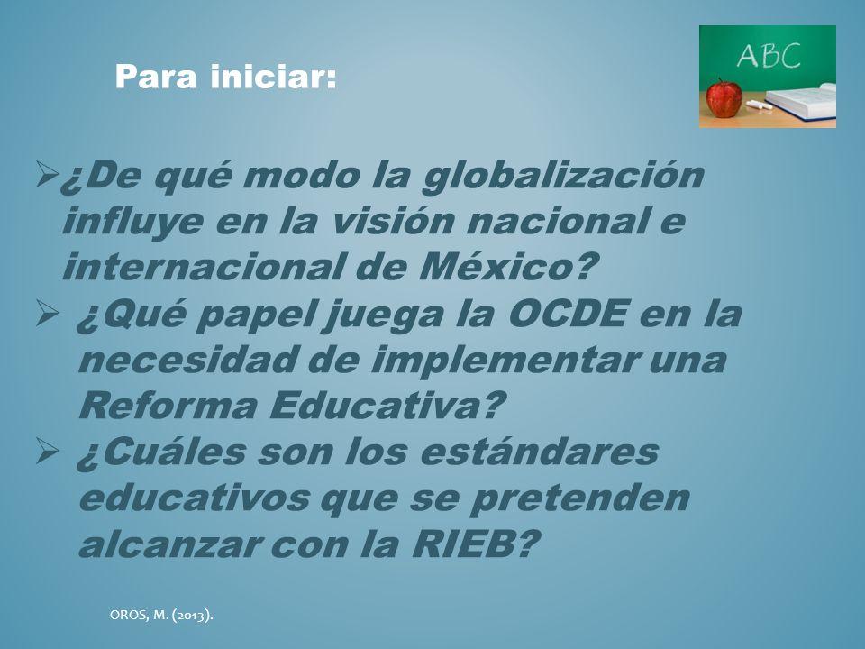 Para iniciar: ¿De qué modo la globalización influye en la visión nacional e internacional de México