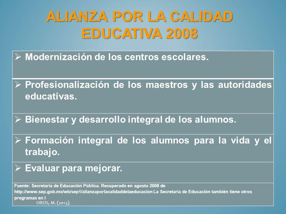 Alianza por la calidad educativa 2008