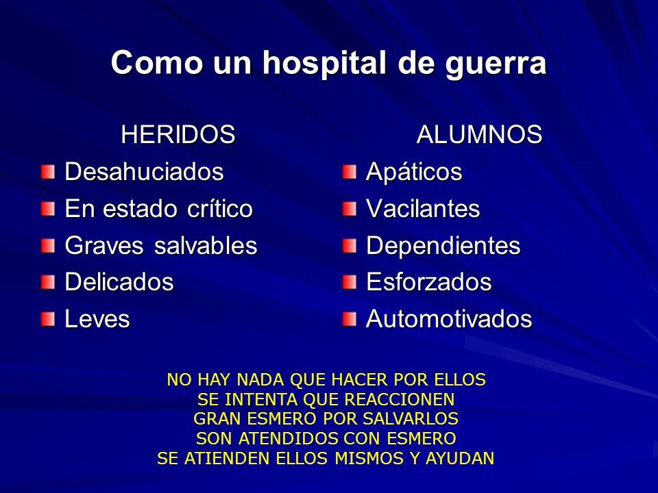 Como un hospital de guerra