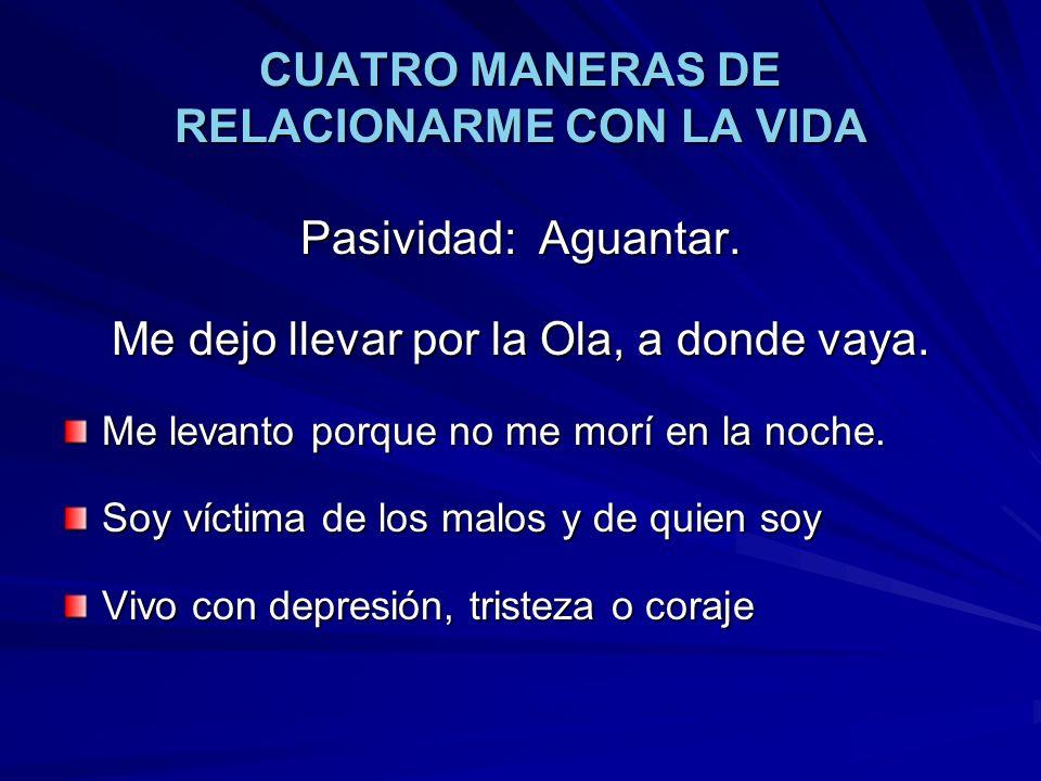 CUATRO MANERAS DE RELACIONARME CON LA VIDA