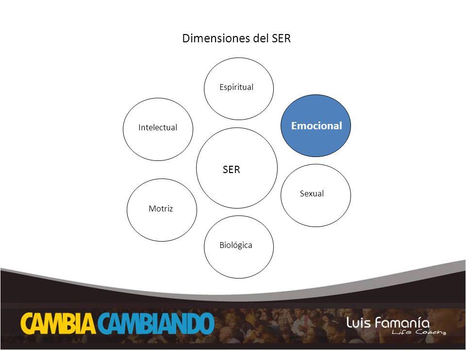 Dimensiones del SER Emocional SER SER Espiritual Intelectual Sexual