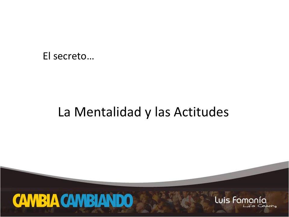 La Mentalidad y las Actitudes
