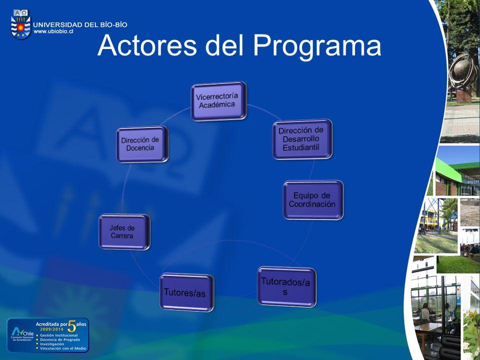 Actores del Programa Tutores/as Tutorados/as Vicerrectoría Académica