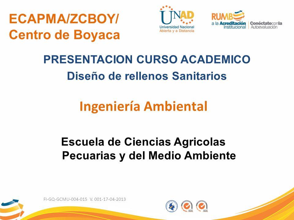 Ingeniería Ambiental ECAPMA/ZCBOY/ Centro de Boyaca