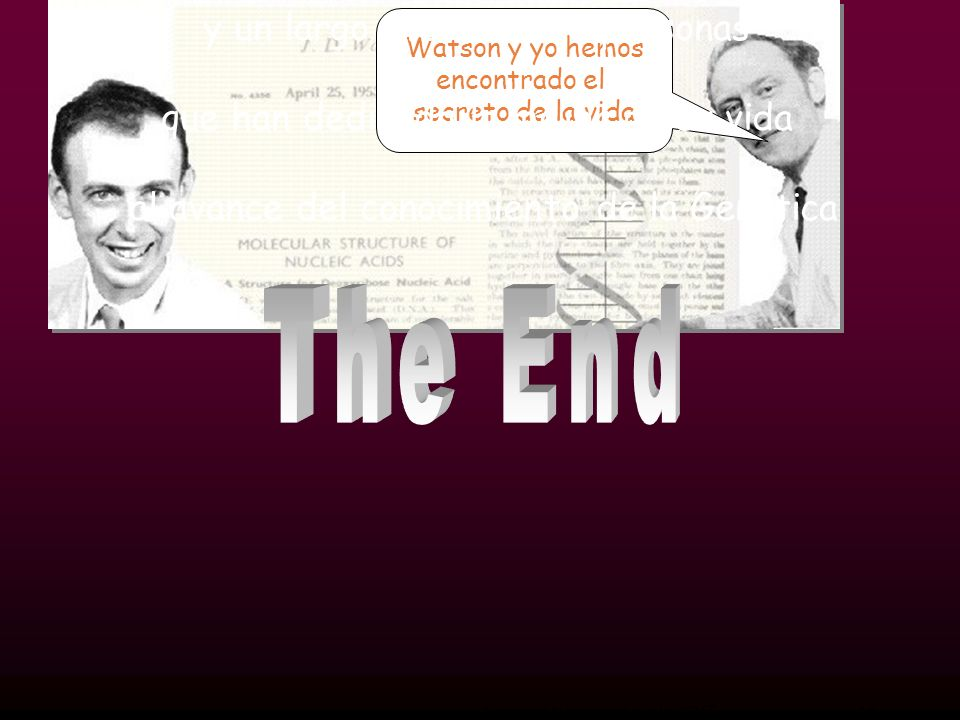 The End Han intervenido: Gregor Mendel Charles Darwin