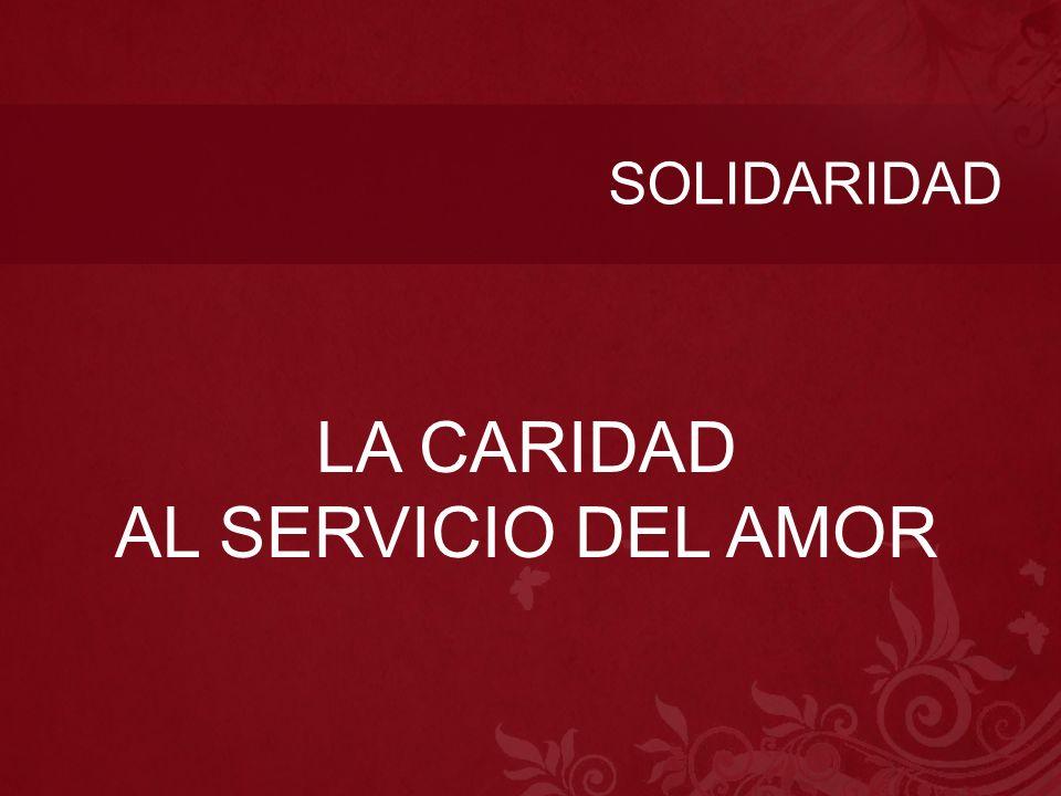 SOLIDARIDAD LA CARIDAD AL SERVICIO DEL AMOR
